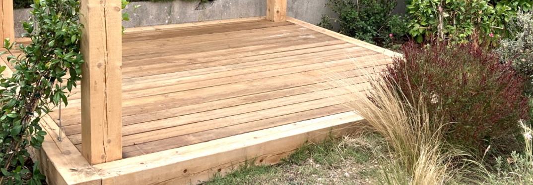Terrasse bois avec pergola
